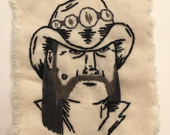 Hand Embroidered Lemmy Motorhead Sew On Patch