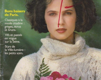 Knitting magazine Pernelle number 8 Vintage 1990 34 French sweater designs