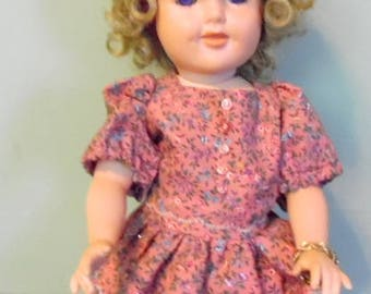 """Hand made Shirley Temple porcelain doll.  16"""" tall. hand made porcelain dolls, Shirley Temple dolls, porcelain dolls, collector dolls"""