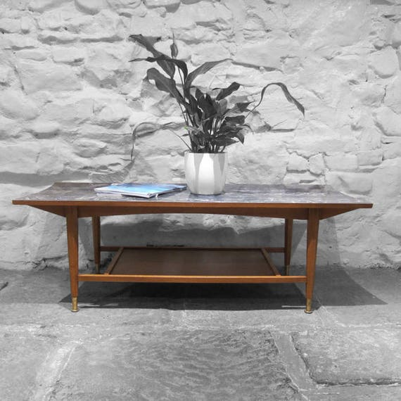 Formica Coffee Table Mid-Century Atomic Grey Modernist 1960s