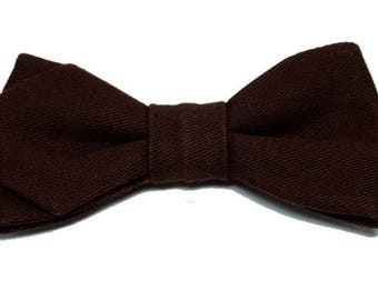 Chocolate bowtie with sharp edges