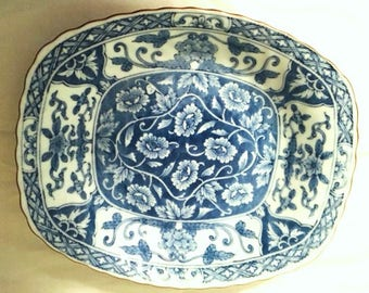 Stunning muted blue bowl - unknown marking