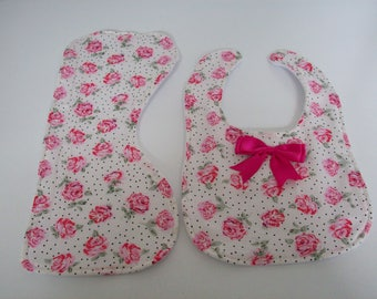 Baby bib and burp cloth,  ideal for new baby gift,  baby shower gift, Christening gift.  .