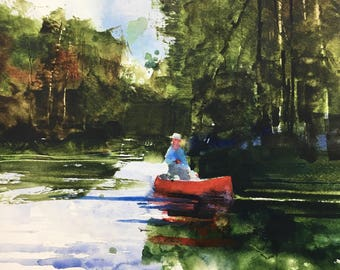 "1118 original watercolor. 8x10"""