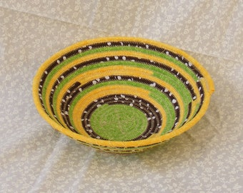 Small Coiled Fabric Basket/ Bowl
