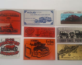 Vintage car culture show plaques,  Arizona, Phoenix,  Yuma, Sedona, Scottsdale,  Corvair Corvettes Hot Rods, Fords Chevys