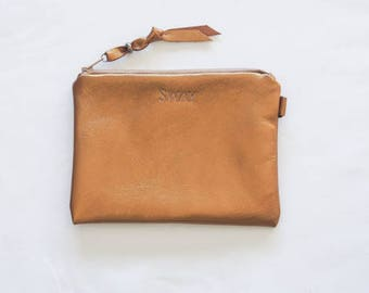Full Leather mini clutch ** Sale **