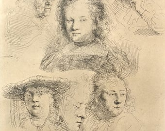 Rembrandt 1623 Etching on paper