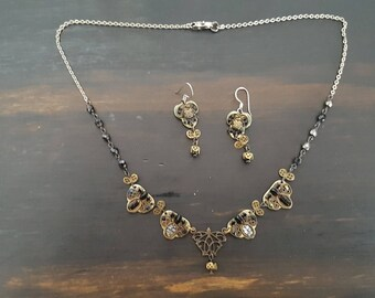 Vintage Ayala Bar Necklace and Earrings