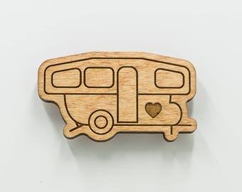 Pop-Up Camper Magnet - Pop Up Camper - Camping Trailer Magnet - Camper Van Wood Magnet - Camper Travel Trailer Engraved Wooden Magnet