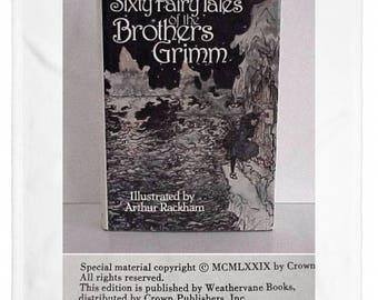60 Fairy Tales of Brothers Grimm Arthur Rackham Illustrations 1979 Edition Hard Cover Dust Jacket