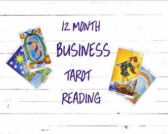 12 Month Tarot Reading for your BUSINESS,year ahead,detailed month -by-month,accurate gifted psychic reader,1500 word email.