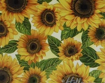 Summer Sale- Falling for you~Sunflowers Floral~ Cotton Fabric by Hoffman~Fast Shipping F892