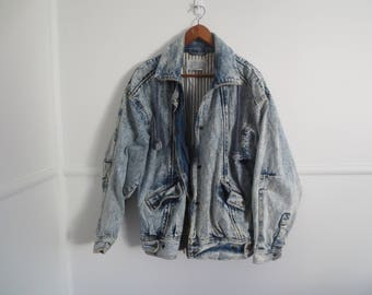 80s acidwash denim jacket
