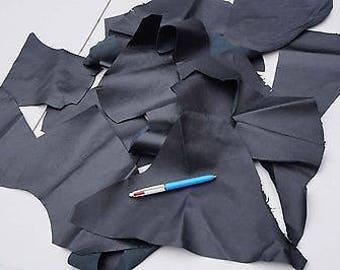 Black Calfskin/Cowhide scrap Garment leather 2-3 hands 0.4 KG