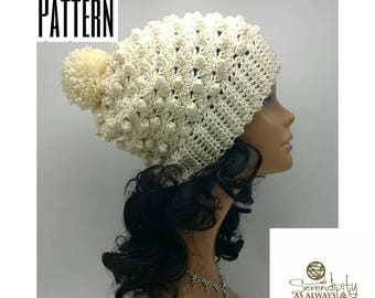 Slouchy Beanie Crochet Pattern | Slouch Beanie Pattern | Puff Beanie | Crochet Pattern Women's Slouch Hat | Slouchy Hat Pattern | PDF