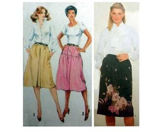 "Women's Elastic Waist Skirt Sewing Pattern Misses Size 10 Waist 25"" UNCUT Simplicity 9856"