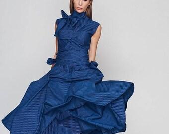 Dresses On Sale Oversized Dress, Loose Dress, Blue Dress, Turtleneck Dress, Plus Size Boho Dress, Holiday Dress, Sun Dress, Ribbon Dress, Bl