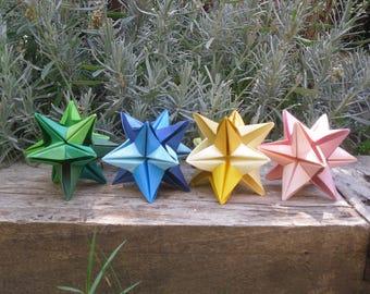 Origami star Omega x 4