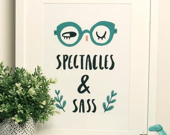 Spectacles and Sass A4 Art Print
