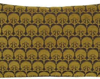 Green Cushion Cover Carnation Pillow Throw Case Woven Fabric Osborne & Little Textile Rectangular