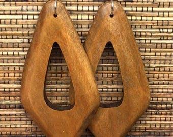 Wood Earrings Brown Earrings -Brown Wooden Earrings - Wooden Earrings - Womens Earrings Dangle Earrings Ethnic Earrings Womens Wood Earrings