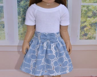 Top and Skirt  for Kidz n Cats doll .