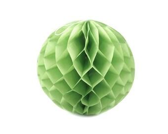 Paper Lantern 25 cm diameter lime green ball decoration