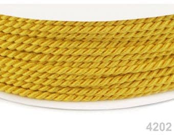 4202-yellow gold - cord rope twisted 2.8 mm yellow