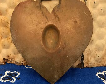 Vintage Brass Harness medallion- Horse- Heart-
