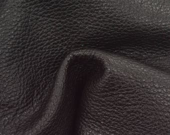 "Smokey Black Leather New Zealand Deer Hide 8"" x 10"" Pre-Cut 4-4 1/2 ounces TA-56215 (Sec. 3,Shelf 4,C)"