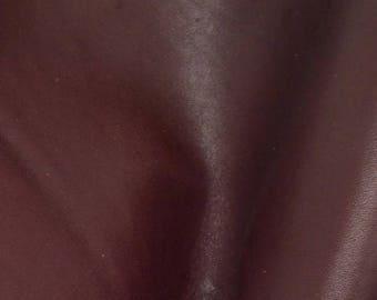 """Grunge Eggplant Leather Oil Tanned Cowhide 4"""" x 6"""" Pre-cut 5-6 ounces DE-64588 (Sec. 3,Shelf 6,C,Box 1)"""