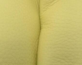 "Bright Lime Green Leather New Zealand Deer Hide 8""x 10"" Pre-cut 3-3 1/2 ounces-26 DE-66157 (Sec. 4,Shelf 4,A)"