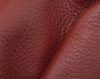"NZ Deer Sale Riptide Red Leather New Zealand Deer Hide 4"" x 6"" Pre-cut 4 ounces -10 DE-66107 (Sec. 3,Shelf 5,A,Box 3)"