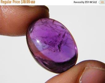 80% Sale Natural Amethyst Cabochon, (20x14.5x8.5MM) Oval Amethyst, Burma Amethyst, 19Ct. Semiprecious, Purple Amethyst Gemstone 20K-473