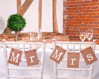 Mr & Mrs chair Bunting