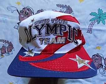 Vintage 90's United States Olympic Team Snapback Hat, Adult Size 1996 Starter