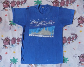 Vintage 80's Bay To Breakers San Francisco T shirt, size Small 1983 Apple Miller Lite Pepsi footrace