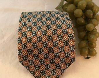 "v382 Giorgio Armani, Cravatte, men's print,silk, neck tie, 55x3.75"", 8oz."