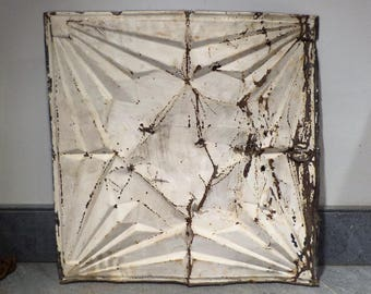 Tin Ceiling Tile, Large, Art Deco, Architectural Salvage from Brooklyn NY