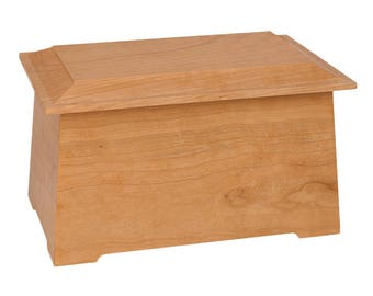 Natural Cherry Sonata Wood Cremation Urn