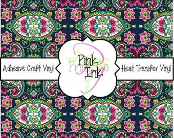 Paisley Patterned Craft Vinyl and Heat Transfer Vinyl in pattern 265