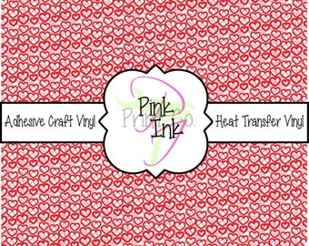 Valentine's Printed Vinyl, Heart Patterned Adhesive Vinyl and Heat Transfer Vinyl in pattern 1011