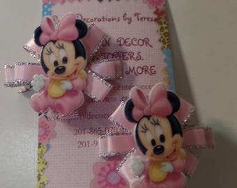 Baby Minnie Mouse Hair Clips-Set of 2