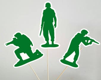 Army Birthday Centerpiece, Army Men Centerpieces