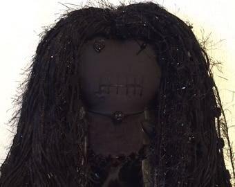 "Creepy n Cute Zombie Doll ~ ""Goth Gal"" (P)"