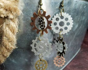 Rustic Gear Earrings