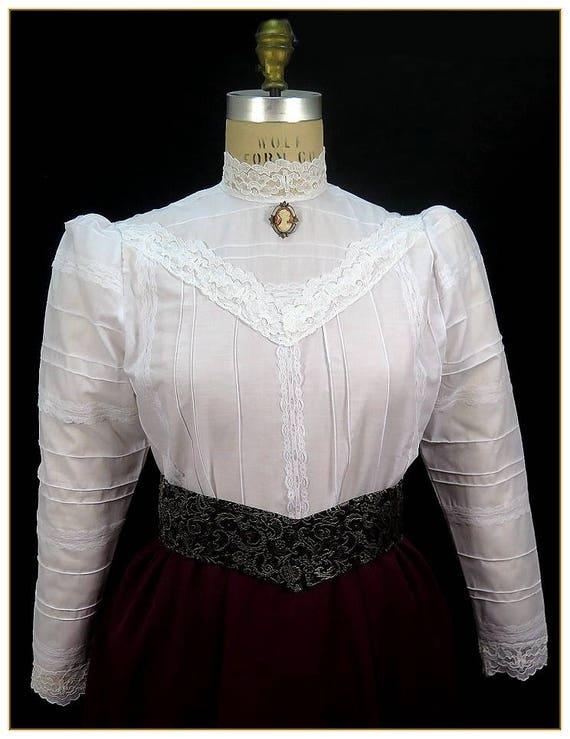 Victorian Blouses, Tops, Shirts, Vests Romantic Lace BlouseRomantic Lace Blouse $62.00 AT vintagedancer.com