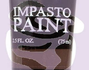 Prima Finnabair Art Alchemy IMPASTO Paint Heavy Body Acrylic Paint 2.5 oz  DARK CHOCOLATE #964658