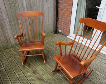 2 x Traditional Rocking Chairs 1960's
